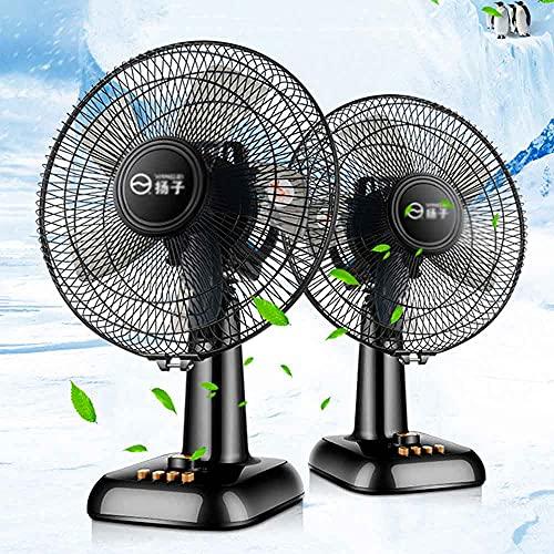 Ventilador Ventilador Eléctrico Portátil Aire Acondicionado Ventilador De Circulación Cinco Hojas Viento Suave Ajuste De Tres Engranajes Enfriamiento Ventilador Eléctrico De Escritorio (negro) 220V