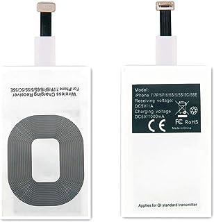 AISHEMI Adaptador de receptor de carga inalámbrico con tecnología Fast & Smart Microchip para iPhone 5 / 5S / 5C / SE / 6S...