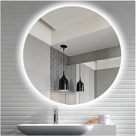 CustomGlass Espejo de Pared Redondo con iluminaci/ón led en Varias Medidas con Forma Circular Redondo 40 cm