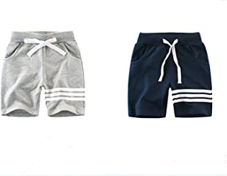 ZIYOYOR Baby Boys Summer 2-Pack Cotton Stripe Shorts 2-7Years