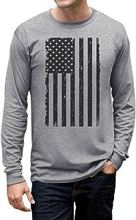 Big Black American Flag - Vintage USA Flag 4th of July Long Sleeve T-Shirt