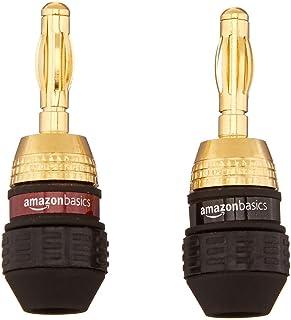 Amazonベーシック バナナプラグ スピーカーコネクター 6ペア