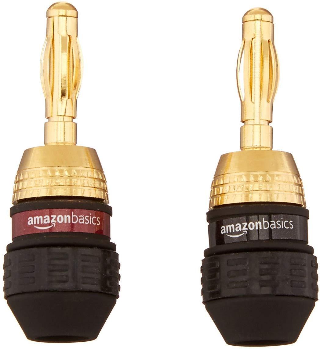 Amazon Basics Speaker Connector Banana Plugs - 6 pairs