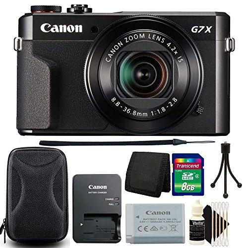 Canon G7X Mark II PowerShot 20.1MP Digital Camera (Black) + 8GB Memory Card + Wallet...