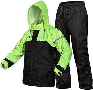 RYY Raincoats Rain Suit (Rain Jacket and Rain Pants Set), Breathable Rainwear + Trousers Waterproof Electric Cars Split Ty...