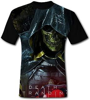BUZAILIANX Men's DEA-th Str-anding Skull Knight 3D Print Classic Short Sleeve T-Shirt