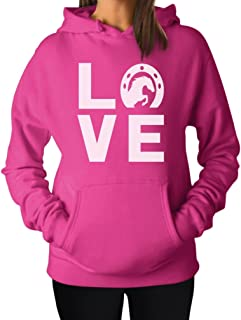 Love Horses - Animal Lover Rearing Horse - Gift for Horse Lover Women Hoodie
