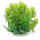 sourcing map Ornamento Verde de Peces de Acuario Tanque de plástico de simulación de Planta herbácea de la decoración
