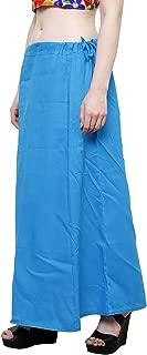 CRAFTSTRIBE Women Cotton Saree Petticoat Inskirt Underskirt Skirt Red Sari Wrap Skirt