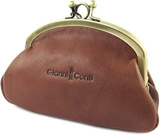 2bec7f9a4b Wallet leather purse 'Gianni Conti'cognac (2 compartments)- 13.5x9x5 cm
