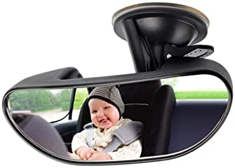 Baby Mirror for Car, GES Rear View Mirror 360 Degree Adjustable Strengthen Suction Cup Mirror for Car (5.9× 2.2Inch) ...