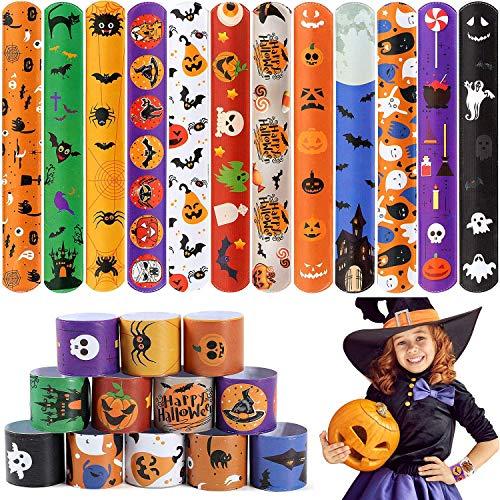 vamei 48 Pezzi Slap Braccialetti Gadget Halloween...