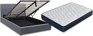 Mueble Canape con Base Tapizada + Colchon Visco + Cabecero 135x190 cms, Subida Domicilio ref