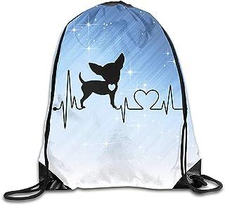 Mochila De Alpinismo,Mochilas De Cordones,Drawstring Bolsa De Gimnasio,Dog Heartbeat Chihuahuaviajes De Viaje,Mochila Deportiva Cinch,Bolso De Hombro Escolar