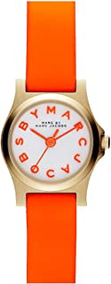 Marc By Marc Jacobs Henry Dinky Orange Leather Ladies Watch MBM1236