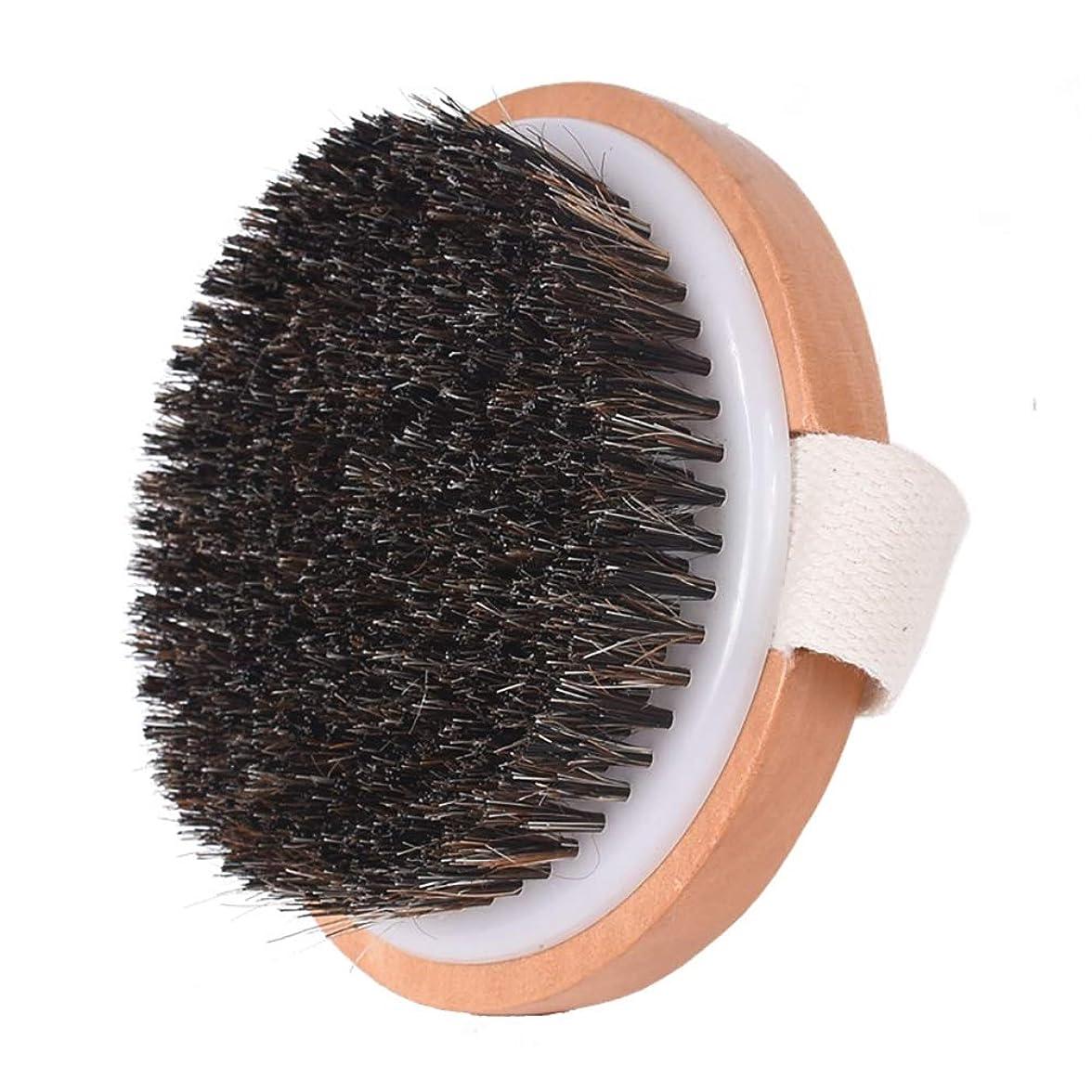 フラグラント故障中関係ないMaltose 馬毛ボディブラシ 天然素材 柄なし お風呂用 体洗いブラシ 柔らかい 足洗い つるつる美肌に 竹製