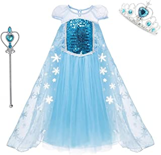 DXYtech Princess Costumes Sequins Dress Up Party Outfit for Toddler Girls