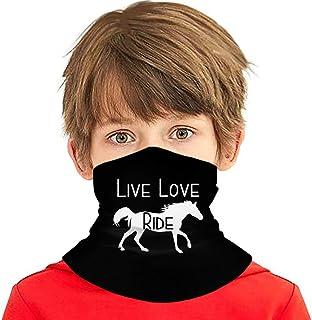 Wthesunshin Bufanda Niños Calentadora De Cuello Live Love Ride Horse Bufanda de Invierno Bandana Pasamontañas Calentador d...