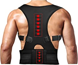 Magnetic Therapy Posture Support Back Brace -FDA Approved Medical Grade Adjustable Posture Corrector Brace Shoulder Back Support Belt- Relieves Neck, Back and Spine Pain