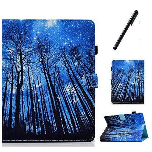 HereMore Universal Case for 8 Inch Tablet with Pen, Leather Stand Cover Protective Shell for Fire HD 8,Huawei MediaPad T3 8,Samsung Galaxy Tab A8, Acer Iconia One 8 B1-870,Lenovo Tab E8, Forest