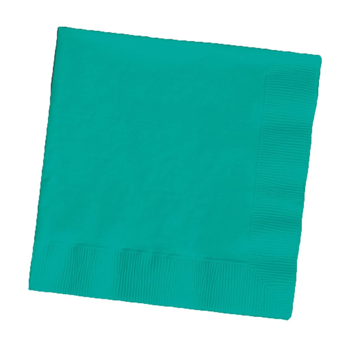 Creative Converting Touch of Color 2-Ply 50 Count Paper Beverage Napkins, Tropical Teal
