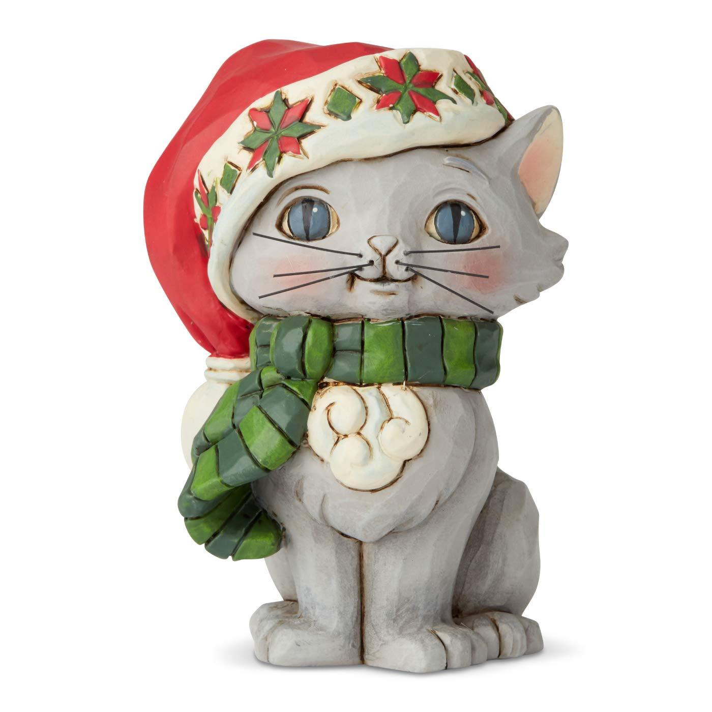 Image of Mini Jim Shore Santa Kitten Christmas Figurine