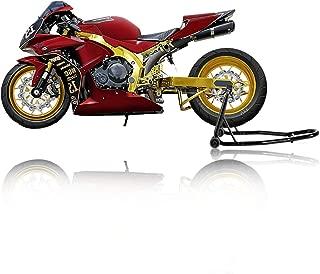 SUNCOO Motorcycle Stand Rear Wheel Stand Paddock Sport Bike Lift Support Fits Honda Yamaha BMW for Auto Bike Maintenance, Black