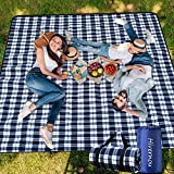 Hivernou Picnic Blanket,Picnic Blanket Waterproof Foldable with 3 Layers Material,Extra Large Picnic Blanket Picnic Mat Beach Blanket 80'x80' for Camping Beach Park Hiking Fireworks,Larger & Thicker