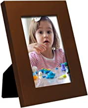 Adeco 5x7 Decorative Walnut Wood Wall Hanging or Table Top Desktop Display Picture Frame - Made to Display 5x7 Photo