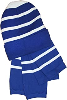 Sport-Tek Women's College Spirit Striped Beanie and Arm Socks One Size 2 Piece Set Bundle, Many Color Options Available