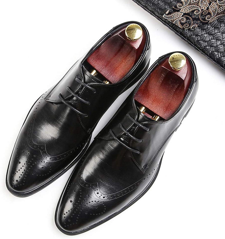 Fashion Men's shoes, Men's Leather shoes, Business shoes Men's Boots (color   Black, Size   40)