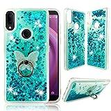 Alcatel 3V 2019 Clear Case, ZASE Liquid Glitter Sparkle Bling Phone Case for...