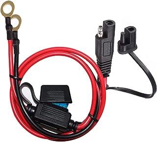 Bkinsety 12FT SAE to SAE Cavo di Prolunga 16AWG 2 Pin Quick Disconnect Cablaggio Connettore con Coperchio Protettivo per Auto Solar Battery