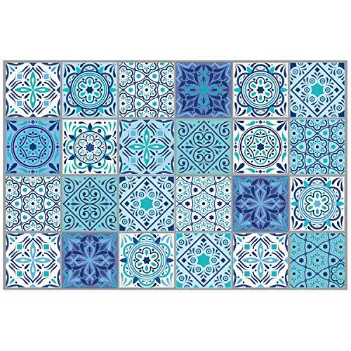 Salpicadero I Mandala decorativa de colores I 60 x 40 x 0.3 cm I siempre moderno I protección de azulejos para placas de cocción y fregaderos I dv_804