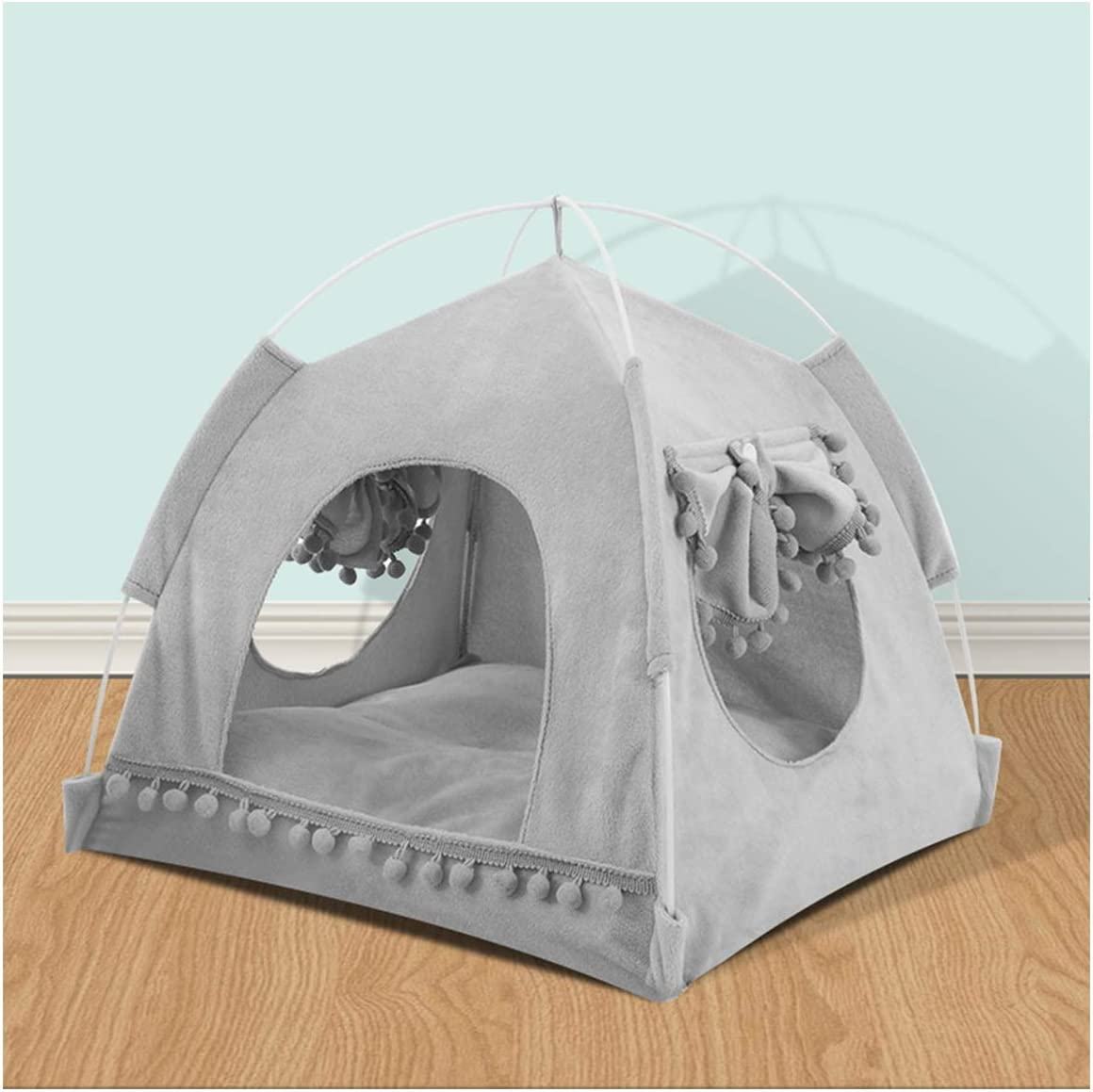 Saymequeen Cat Princess Indoor Tent House Small Cute Dog Pet Fashion Flo Superior