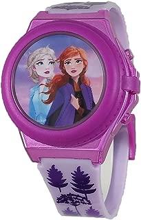 Disney Girl's Frozen 2 Elsa and Anna Purple Digital Light Up Watch