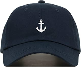 Anchor Baseball Hat, Embroidered Dad Cap, Unstructured Soft Cotton, Adjustable Strap Back (Multiple Colors)