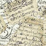 Timeless Treasures Stoffe natur Musik Neuheit Musik Blatt