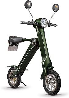 BLAZE 電動バイク 折りたたみ型 (ナンバー取得付き) カーキ SMART EV 車内積込み可能 12インチ 重量約18kg 脱着式バッテリー