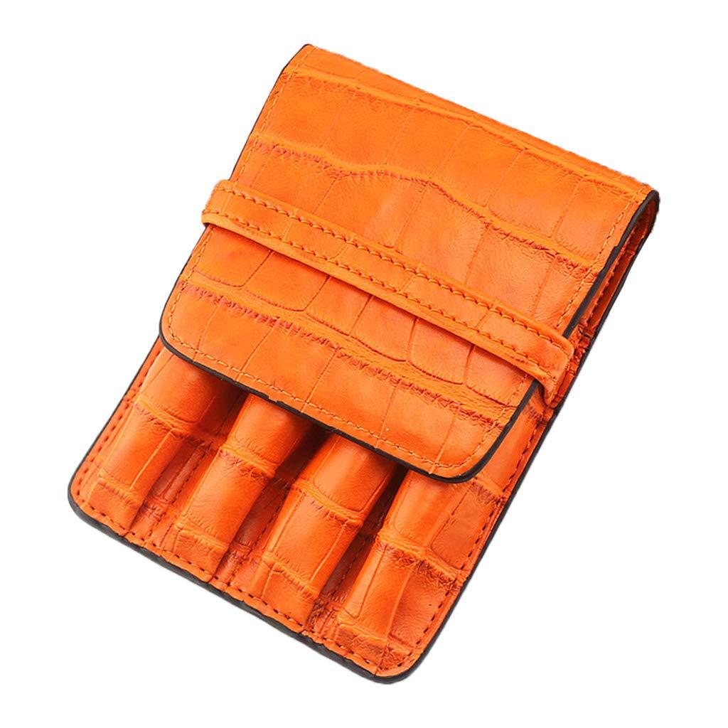 RROVE Estuche para bolígrafos Patrón de Piel de cocodrilo Roller Plumas Estuche Estuche Bolsa Ranura separada Accesorio Naranja: Amazon.es: Hogar