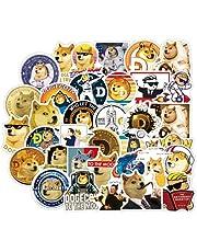 Dogecoin munten nieuwigheid Meme sticker voor waterflessen - grappige schattige stickers decoratie voor tieners, meisjes, jongens, volwassenen - stickers perfect voor laptop, telefoon, hydrofles, waterfles, bagage