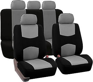 Conjunto completo de 9 peças de capas de assento de carro com apoios de cabeça destacáveis, ajuste universal, capas de ban...