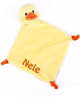 Striefchen Striefchen Enten Schnuffeltuch mit gratis Namen bestickt mit Geschenkverpackung