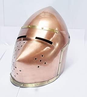 NauticalMart Medieval Viking Mask Helmet Reenactment Mask Warrior Armor Helmet Props