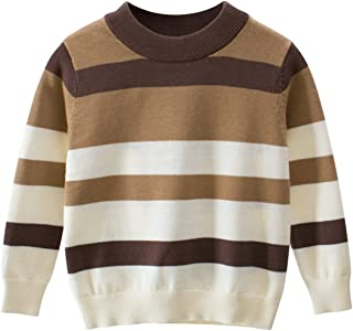 pipigo Boys Classical Pullover Winter Knit Stripe Cute Sweaters