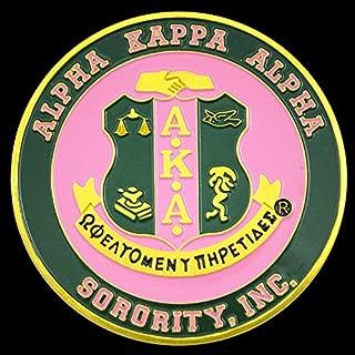 Alpha Kappa Apha Sorority Aluminum Car Tag Emblem
