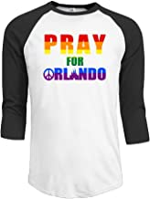 BOoottty Men's Pray for Orlando Peace Pulse Nightclub Homosexuality Raglan Baseball T-Shirt
