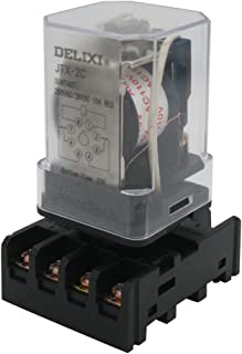 TWTADE/JTX-2C, MK2P-I DPDT Power Relay with Plug-in Terminal Socket Base, AC 110V Coil, 8 Pin 2NO 2NC (Quality assurance for 1 years) AC 110V