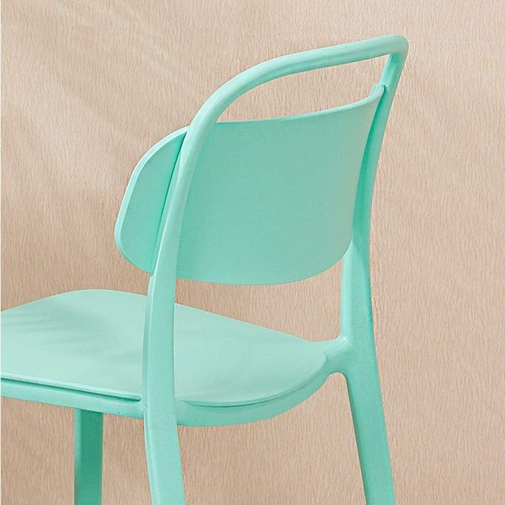 Chaise De Salon En Plastique PP, Chaise De Dossier De Maison Minimaliste Moderne Chaise Nordique Créative Empilable Chaise Épaississante À Discuter De La Chaise (Color : Blue) Blue