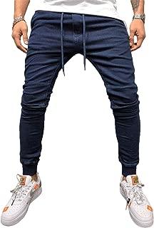 [ライラ] ストレッチ 素材 ジョガーパンツ コットン ブラック リブ パンツ スポーティ フィット M ~ 3XL メンズ